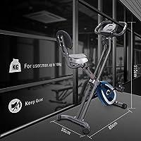 Ultrasport F-Bike 300B Bicicleta estática Plegable, Ordenador y ...