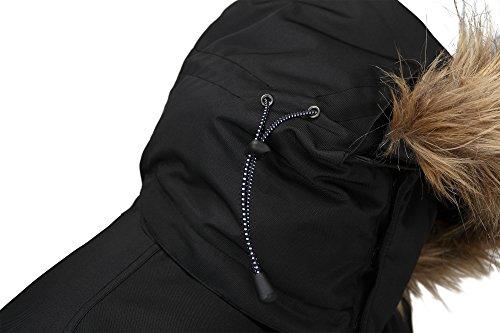 5963a9532ad2 Fuerza Mens Winter Premium Down Wellon Raccoon Fur Hooded Parka Jacket - Black  best