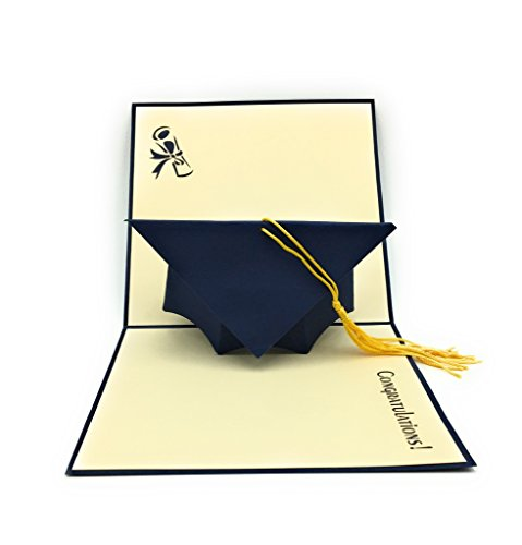 HANDMADE GRADUATION CAP POP UP CARD - Ideal for highschool college university masters and PhD Graduates!]()