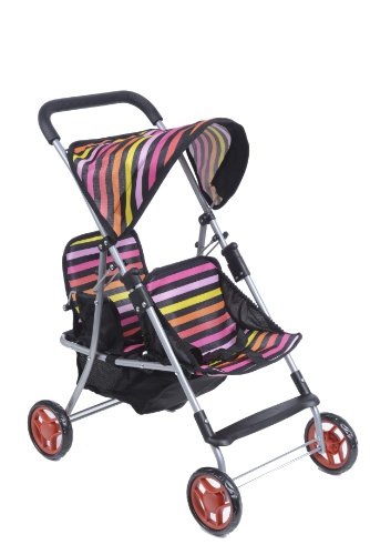 Dolls Twin Prams Pushchairs - 5