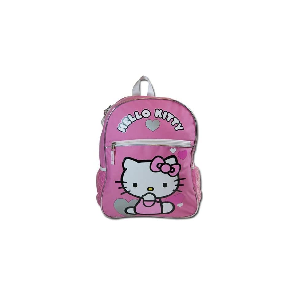 """Birthday Christmas Gift   Sanrio Hello Kitty Large Backpack and Sanrio 4 Card Games Set, Backpack Size Approximately 16"""" Toys & Games"""