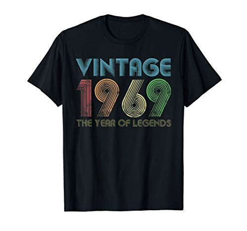 Men's Vintage 1969 50th Birthday Gift 50 Years Old T-Shirt