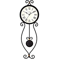 Howard Miller Ivana Wall Clock 625-495 - Modern Wrought-Iron with Quartz Movement