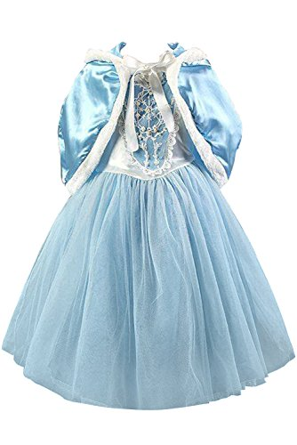 Cinderella Tulle Fanciest Girl Dresses Blue Blue Spitzen Flower Gown for Ball Weddings aww5qO