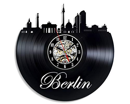 Levescale - Berlin Vinyl Wall Clock - Express Shipping for Friends, Brother and Sister - Cityline - Decoration for Living Room, Kitchen - Germany - Cathedral - Bellevue Palace]()
