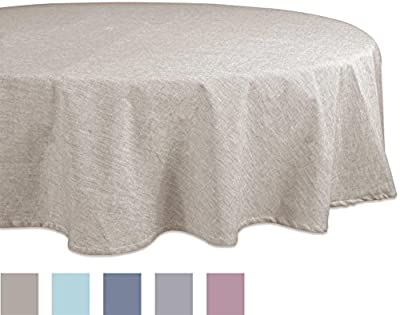 """DII 100% Cotton, Machine Washable, Everyday Chambray Kitchen Tablecloth For Dinner Parties, Summer & Outdoor Picnics - 60x104"""" Seats 8 to 10 People, Chambray Aqua"""