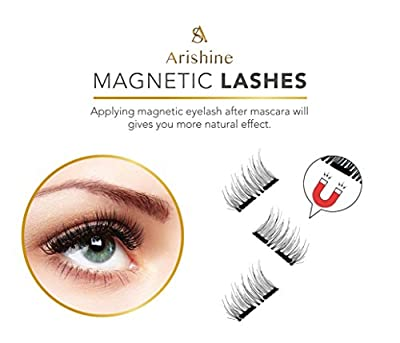 8x Magnetic Eyelashes [No Glue]-Arishine Long Dual False Magnetic Eyelashes -Ultra Thin 3D Fiber Reusable magnetic eyelashes by Arishine
