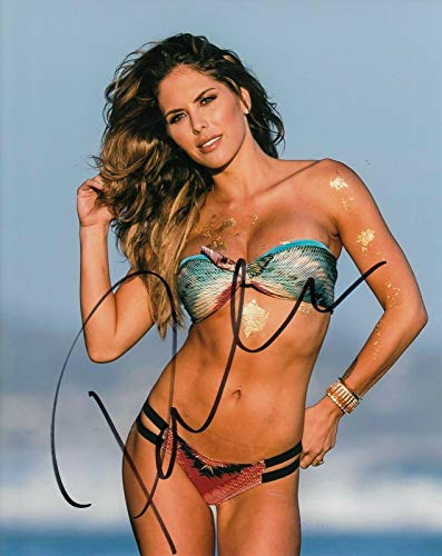 (BRITTNEY PALMER signed (UFC) Sexy Hot Ringcard Girl 8X10 photo *PROOF* W/COA #3 - Autographed UFC Photos)
