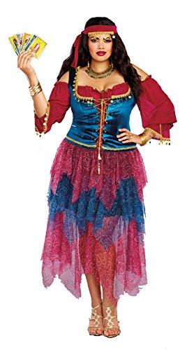 Dreamgirl Women's Plus Size Gypsy, Multi, 1X