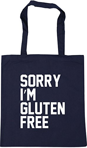 Beach Shopping French free Gym 10 HippoWarehouse Navy 42cm x38cm Gluten Tote I'm Bag Sorry litres WW4Rc0