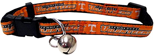 Tennessee Dog Bandana - NCAA CAT COLLAR. - TENNESSEE VOLUNTEERS CAT COLLAR. - Strong & Adjustable COLLEGE Cat Collars with Metal Jingle Bell