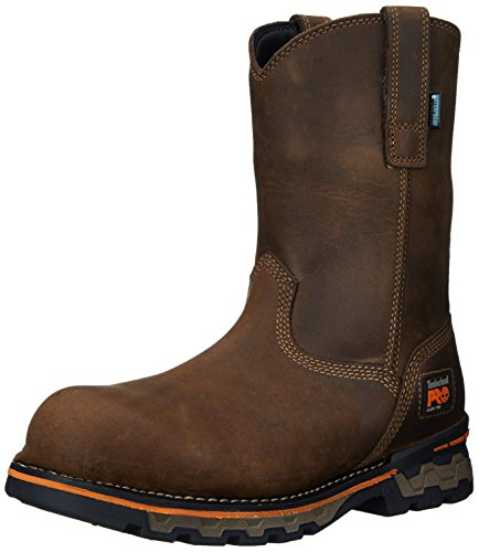 Timberland PRO Men's AG Boss Pull-On Alloy Toe Waterproof Work and Hunt Boot, Brown Distressed Leather, 7 M US