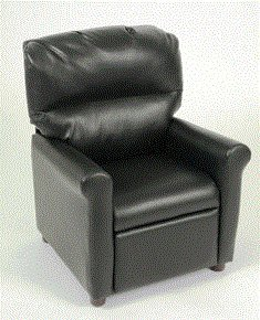 better homes and gardens recliner. better homes and gardens faux-leather kids recliner black - soft comfortable chair seat lounging e