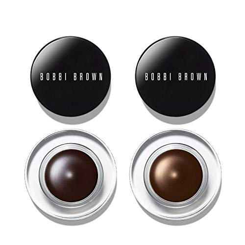 Ink Espresso - Bobbi Brown 2 Piece Lined And Defined Mini Long Wear Gel Eyeliner Duo Gift Set - Includes 1 Espresso Ink and 1 Bronze Shimmer Long Wear Gel Eyeliners (0.05 oz / 1.5g Each)
