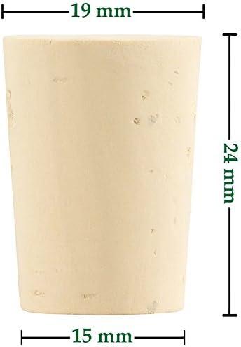 Bouteille de bi/ère 20 * 15 * 35mm 10pcs 2 Types Bouchons en Li/ège Naturel Conique en Bois Bouchons de Bouteuille de Vin//Bouchons de Bi/ère