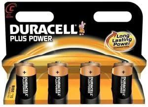 Baby C Blister da pezzi Duracell Batterie Alcaline quot;Plus Power