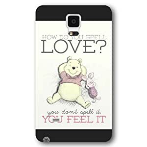 DiyPhoneDiy Disney Series Case for For Samsung Galaxy Note 3 Cover , Cute Cartoon Tigger For Samsung Galaxy Note 3 Cover , Only Fit For Samsung Galaxy Note 3 Cover (White Frosted Shell)
