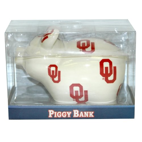 NCAA Oklahoma Sooners Piggy Bank with All Over Logo