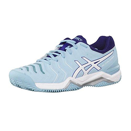 Scuro bleu 11 Femme de Blu Clay Rosa Asics Tennis clair Gel Chaussures Challenger Sqnanw8xP