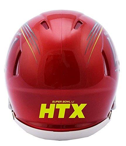 Super Bowl 51 Riddell Red Speed Mini Helmet
