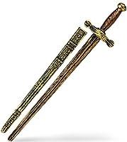 Riesiges Ritter Kampf Schwert 75 cm Gold Bronze