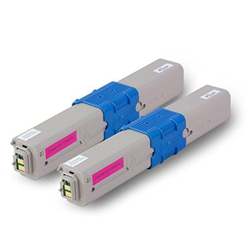2PK - SOJIINK OKIDATA Compatible 44469702 Magenta Laser Tone