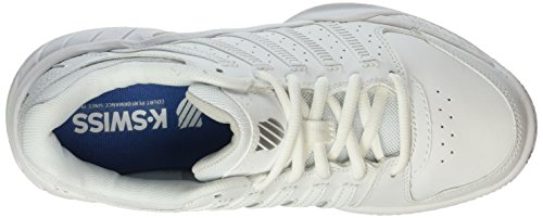 K-SWISS Express LTR Ladies Shoe, White/Silver, UK7