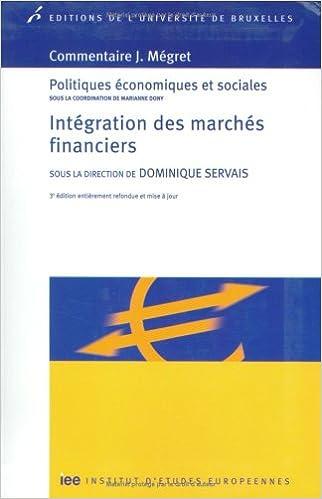 Livre gratuits Intégration des marchés financiers epub, pdf