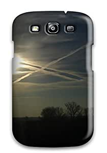 Hot Planes Blue Photography Black Yellow Clouds Sun Photo Earth Sunset Pic Nature Sunset First Grade Tpu Phone Case For Galaxy S3 Case Cover