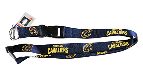 aminco Cleveland Cavaliers Lanyard Keychain Id Clip Ticket Nba - Blue