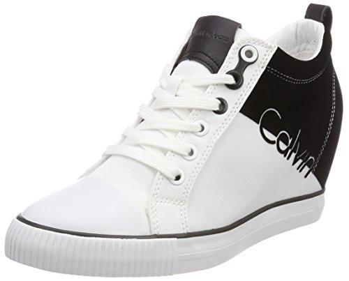 Flocking Alto Nylon Sneaker Rory Bianco 000 Klein Wba Collo Donna Calvin a aUwqSRxK6