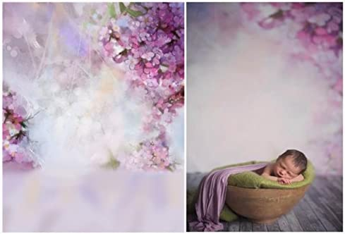 7x10 FT Grunge Vinyl Photography Background Backdrops,Foliage Leaves Pattern with Vintage Inspirations Abstract Floral Composition Background Newborn Baby Portrait Photo Studio Photobooth Props