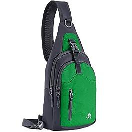 Y&R Direct Sling Bag Sling Backpack,Shoulder Chest Crossbody Bag Purse Nylon Lightweight Multic...