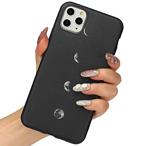 LLZ.COQUE for iPhone 11 Pro Max Case, Moon Lunar Eclipse Black Silicone Slim-Fit Anti-Scratch Anti-Finger Print Shock Proof Smooth Soft TPU Gel Case for iPhone 11 Pro Max (Coque Iphone)