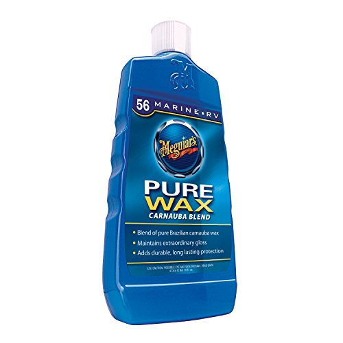 Meguiar's Marine/RV Pure Wax Carnauba Blend – Marine Wax for High-Gloss Protection – M5616, 16 oz