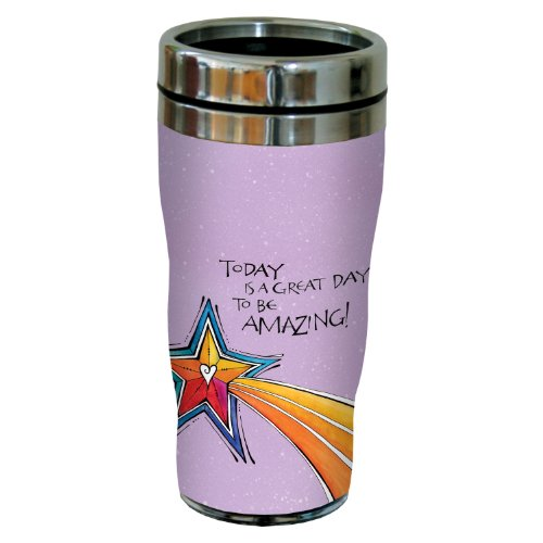 Tree-Free Greetings sg23973 Amazing by Joanne Fink Sip 'N Go Stainless Steel Lined Travel Tumbler, 16-Ounce
