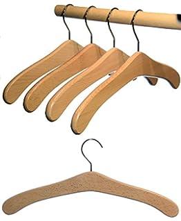 5 St Garderobenb/ügel aus Buchenholz unbehandelt Kleiderb/ügel aus Holz roh