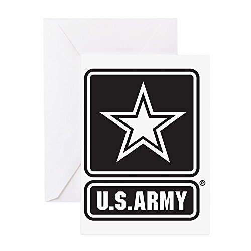 Battle Flag Square (CafePress - Usarmy Star Bw Greeting Cards - Greeting Card, Note Card, Birthday Card, Blank Inside Matte)
