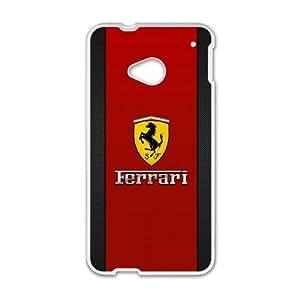 HTC One M7 Phone Case White Ferrari ZKH9378876