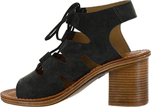 Bella Vita Kvinna Bre-italien Ghillie Slips Sandal Svart Läder