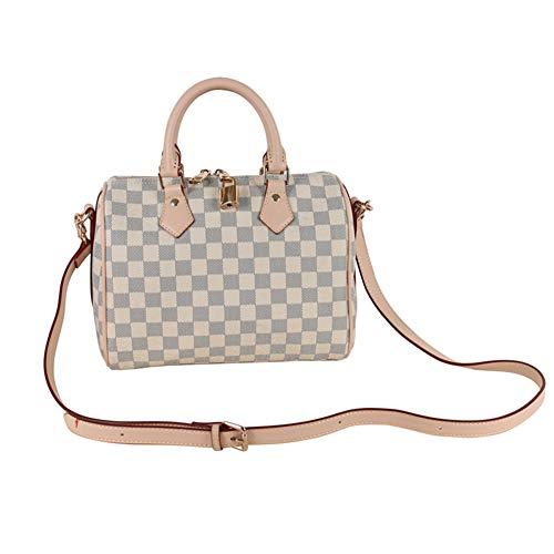 (Womens White Canvas Speedy Tote Bag Travel Bag )