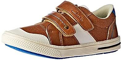 Clarks Boys Junior Shoes, Brown, 10 AU