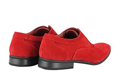 Planos Cordones rojo Suede Red con hombre Xposed Zapatos t6xzZz