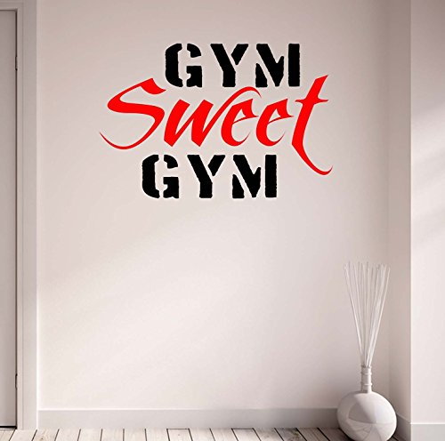 DesignDivil Gym Sweet Gym Bodybuilding Weightlifting Wall Decal Motivational Quote-Health and Fitness Kettlebell Workout Boxing UFC MMA by DesignDivil