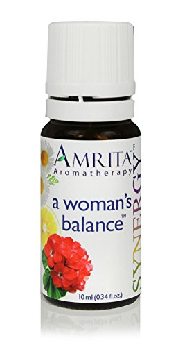 A Woman's Balance Synergy - Premium Therapeutic Quality Essential oil Blend of Clary Sage, Bergamot, Rose Geranium, & Roman Chamomile - SIZE: 60ML by Amrita