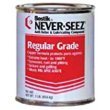 Never-Seez NS-168 Silver Gray Regular Grade Anti-Seize Compound, -297 Degree F Lower Temperature Rating to 1800 Degree F Upper Temperature Rating, 8 lb. Flat Top Can