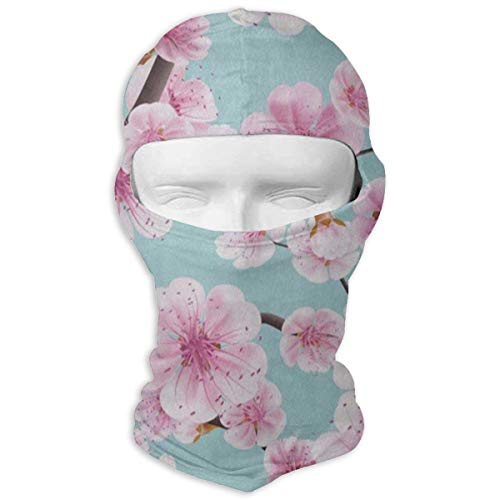 - Full Face Mask Hood Motorcycle Soft Pink Cherry Blossom Spring Headwear Balaclava Ski Outdoors Helmet Liner Mask