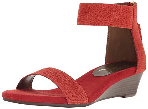 - Aerosoles Women's Yetroactive Wedge Sandal, Red Suede, 7.5 M US