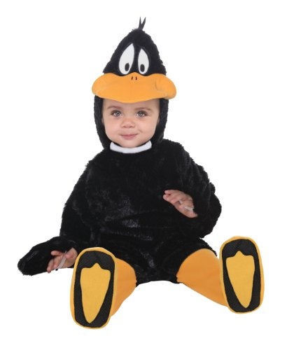 Looney Tunes Daffy Duck Romper Costume, Black, 6-12 (Daffy Duck Costume)