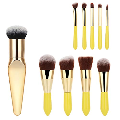 9 Pieces Mini Makeup Brush Set + 1 Premium Blush Brush, YaFex Face Powder Blush Eyeshadow Brushes Makeup Brush Kit